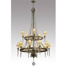 "48"" W Amaury 2 Tier W/Crystals Chandelier"