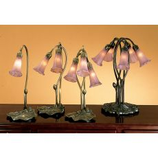"16"" H Lavender Pond Lily 2 Lt Accent Lamp"