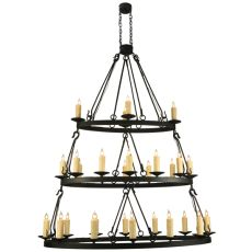"60"" L Kenosha 28 Lt Three Tier Oblong Chandelier"