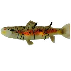 "29.5"" W Metro Fusion Brown Trout Glass Wall Sconce"
