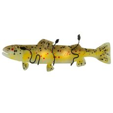 """30"""" W Metro Fusion Brown Trout Glass Wall Sconce"""
