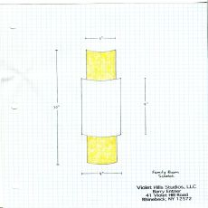 "6"" W X 30"" H X 3"" D Metro Fusion Amber Half Cylinder Shade"