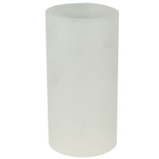 "3"" W X 6"" H Cylinder Frosted Clear Shade"