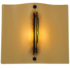 """12.25"""" W Metro Fusion Franco'S Glass Wall Sconce"""