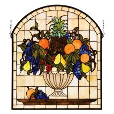 "25"" W X 29"" H Fruitbowl Stained Glass Window"