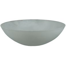"""9"""" W X 3"""" H Bowl Frosted Glass Shade"""