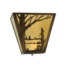 "13"" W Quiet Pond Left Wall Sconce"