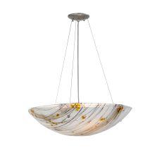 "24"" W Metro Fusion Ramoscelli Glass Inverted Pendant"