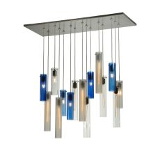 "37"" L Cilindro 15 Lt Cascading Pendant"