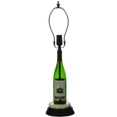 """25.5"""" H Personalized Wine Bottle Table Base"""