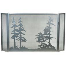 "50"" W X 28"" H Tall Pines Fireplace Screen"
