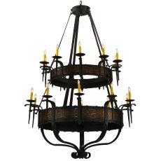 "48"" W Costello 20 Lt Two Tier Chandelier"