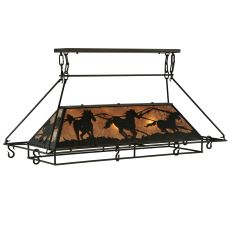 "48"" L Wild Horses Oblong Pot Rack"