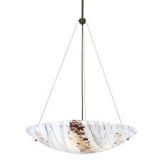 "25"" W Metro Fusion Ramoscelli Glass Inverted Pendant"