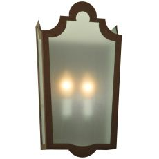 "8.25"" W French Market Frosted Wall Sconce"