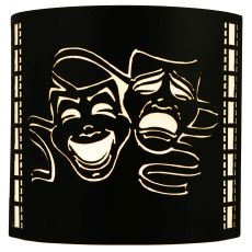 """9.75"""" W Theatre Mask Wall Sconce"""