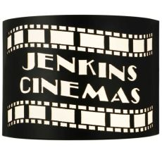 """9.75"""" W Tinseltown Filmstrip Personalized Wall Sconce"""