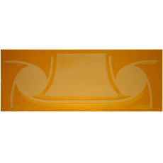 "5.25"" H X 14"" W Metro Fusion Amber Glass"