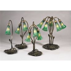 "16"" H Green Pond Lily 2 Lt Accent Lamp"