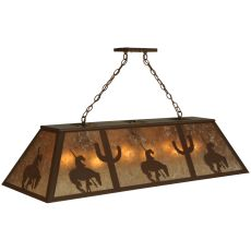 "48"" L Trail'S End Oblong Pendant"