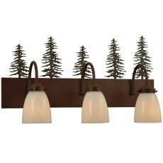"23.5"" W Tall Pines 3 Lt Vanity Light"