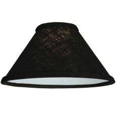 """9.25"""" W X 5"""" H Faille Black Fabric Shade"""