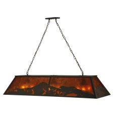 "61"" L Mountain Range Oblong Pendant"