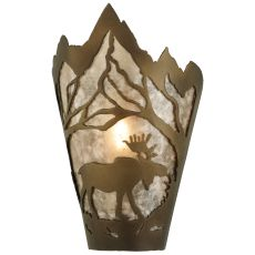 "8"" W Moose At Dawn Right Wall Sconce"