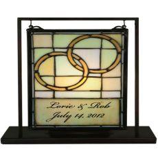 "9.5"" W X 10.5"" H Personalized Wedding Lighted Mini Tabletop Window"