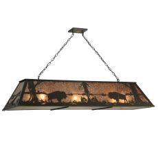 "61.25"" L Buffalo At Lake W/Diffuser Oblong Pendant"
