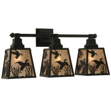 "28"" W Ducks In Flight 3 Lt Wall Sconce"