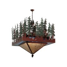 "40"" Sq Pine Lake Inverted Pendant"