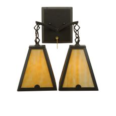 """14"""" W Arnage 2 Lt Wall Sconce"""