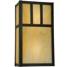 "6.5"" W Hyde Park Double Bar Mission Wall Sconce"