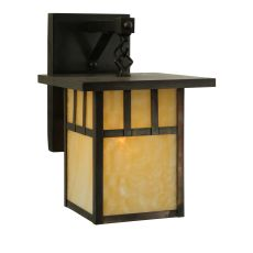"""9"""" W Hyde Park Double Bar Mission Straight Arm Wall Sconce"""