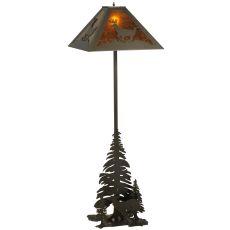 """72"""" H Lone Deer 2 Lt Floor Lamp"""
