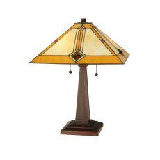 "22"" H Diamond Mission Table Lamp"