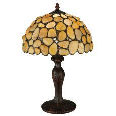 "19.5"" H Agata Yellow Table Lamp"