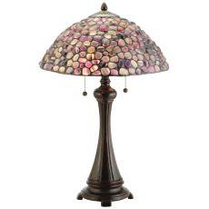 "25"" H Agata Purple Table Lamp"