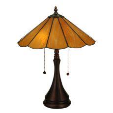 "20.25"" H Panel Honey Amber Table Lamp"