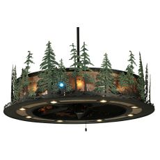 "48"" W Tall Pines W/Up & Downlights & Led Spotlight Chandel-Air"