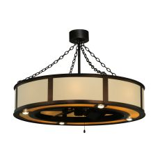 """44.5""""  Maplewood Beige Linen W/Up And Downlights Chandel-Air"""