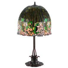 """32"""" H Tiffany Flowering Lotus Table Lamp"""