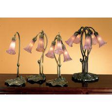 "16"" H Lavender Pond Lily 3 Lt Accent Lamp"