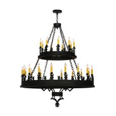 "48"" W Yosemite 27 Lt Two Tier Chandelier"