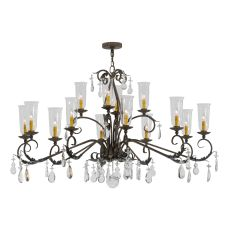 "62"" L Windsor 14 Lt Oblong Chandelier"