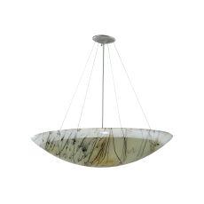 """30"""" W Metro Fusion Primavera Glass Inverted Pendant"""
