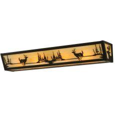 "30"" W Deer At Lake Vanity Light"