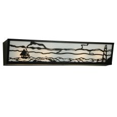 "31"" W Lighthouse W/Sailboat Vanity Light"