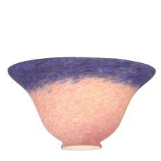 "7.5"" W Pink/Blue Pate-De-Verre Bell Shade"
